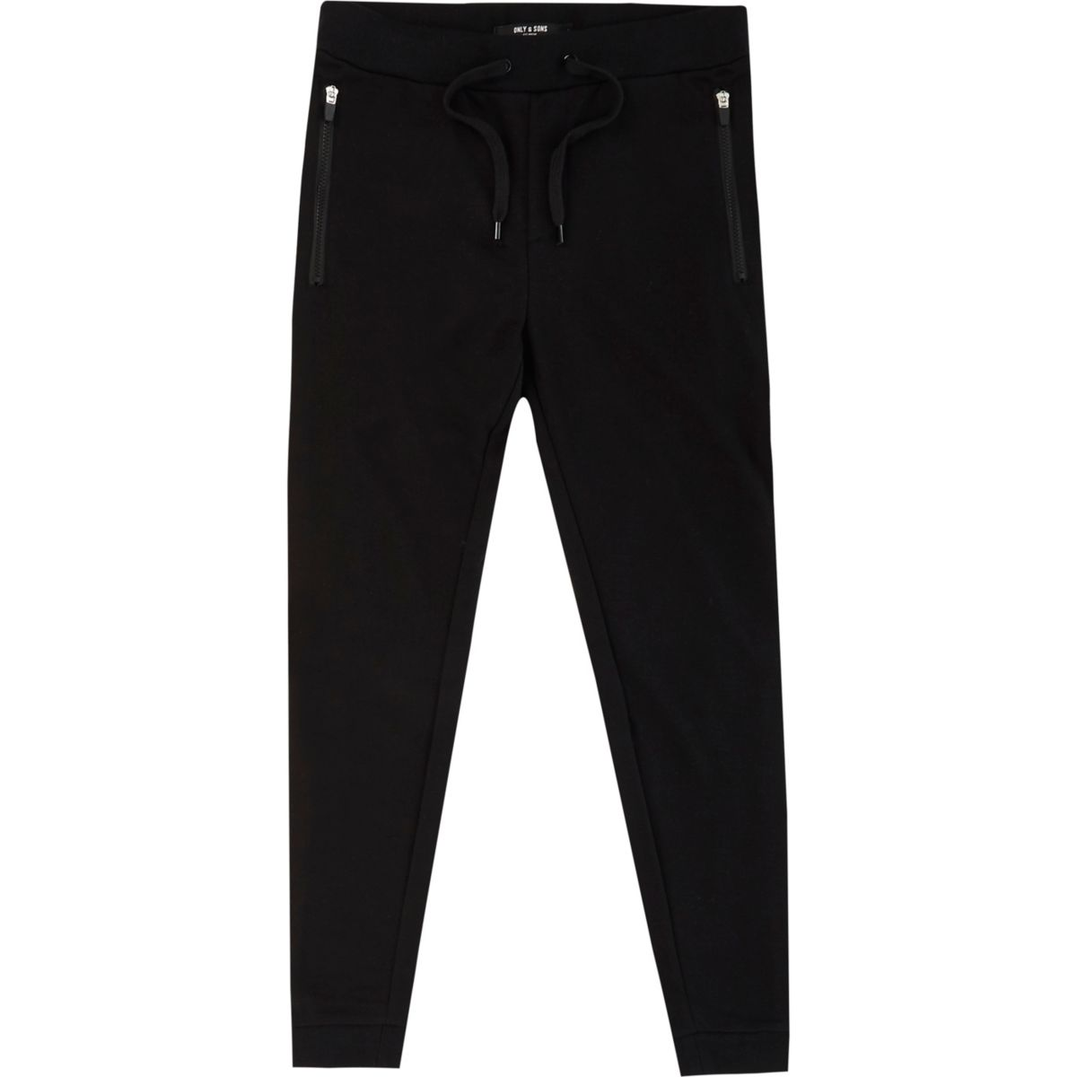 Black Only & Sons printed joggers