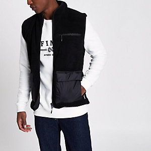 Black Bellfield fleece gilet