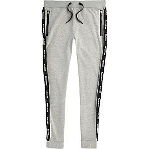 Only & Sons – Pantalon de jogging imprimé gris chiné