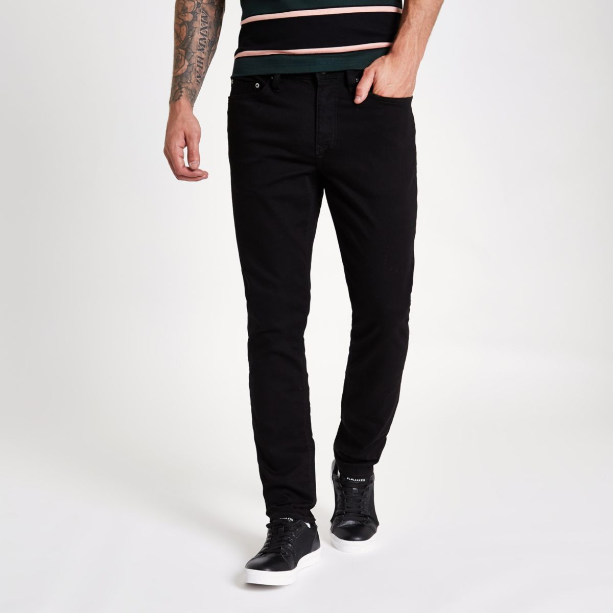 Shop For Cheap Price Mens Stay Black Dylan slim fit jeans River Island Free Shipping Low Cost 3pEPWK