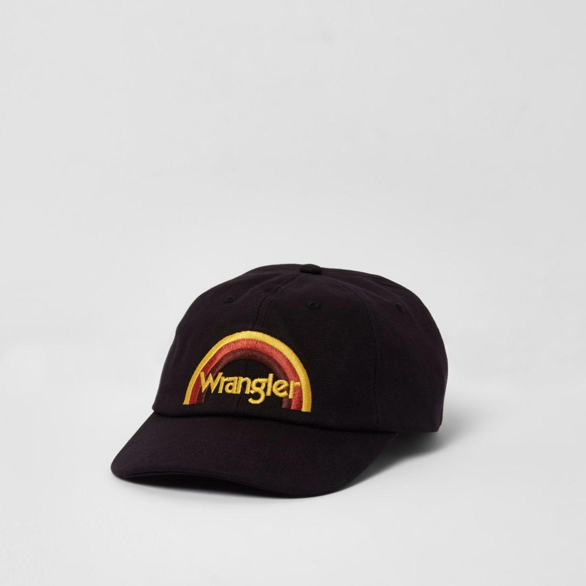 Wrangler - Zwarte baseballpet met regenboog