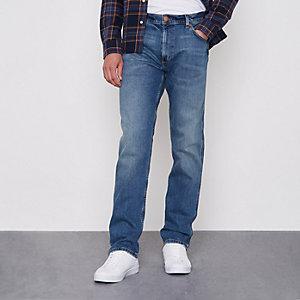 Wrangler - Greensboro blauwe jeans met rechte pijpen
