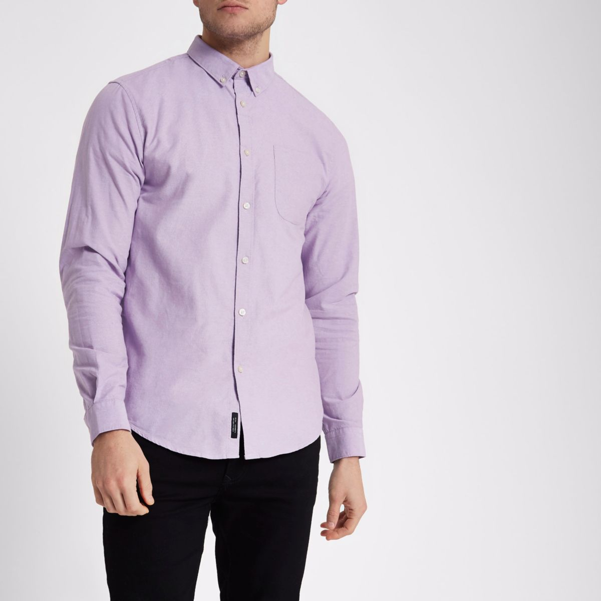 Lilac purple button-down Oxford shirt