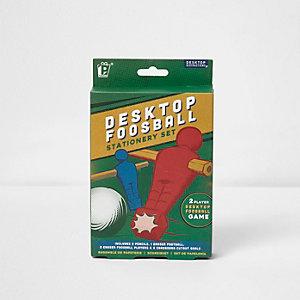 Desktop foosball stationery set