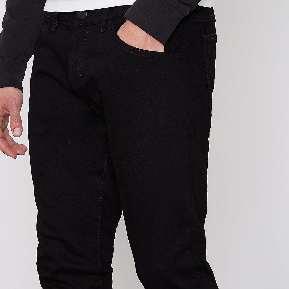 Bryson Men Wrangler Jeans Black Skinny Fit qxqwr1B5
