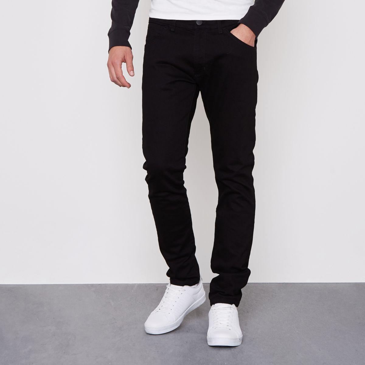 Black Wrangler Bryson skinny fit jeans