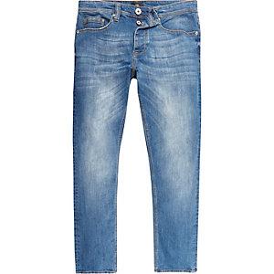 Dylan mid blue wash slim-fit jeans