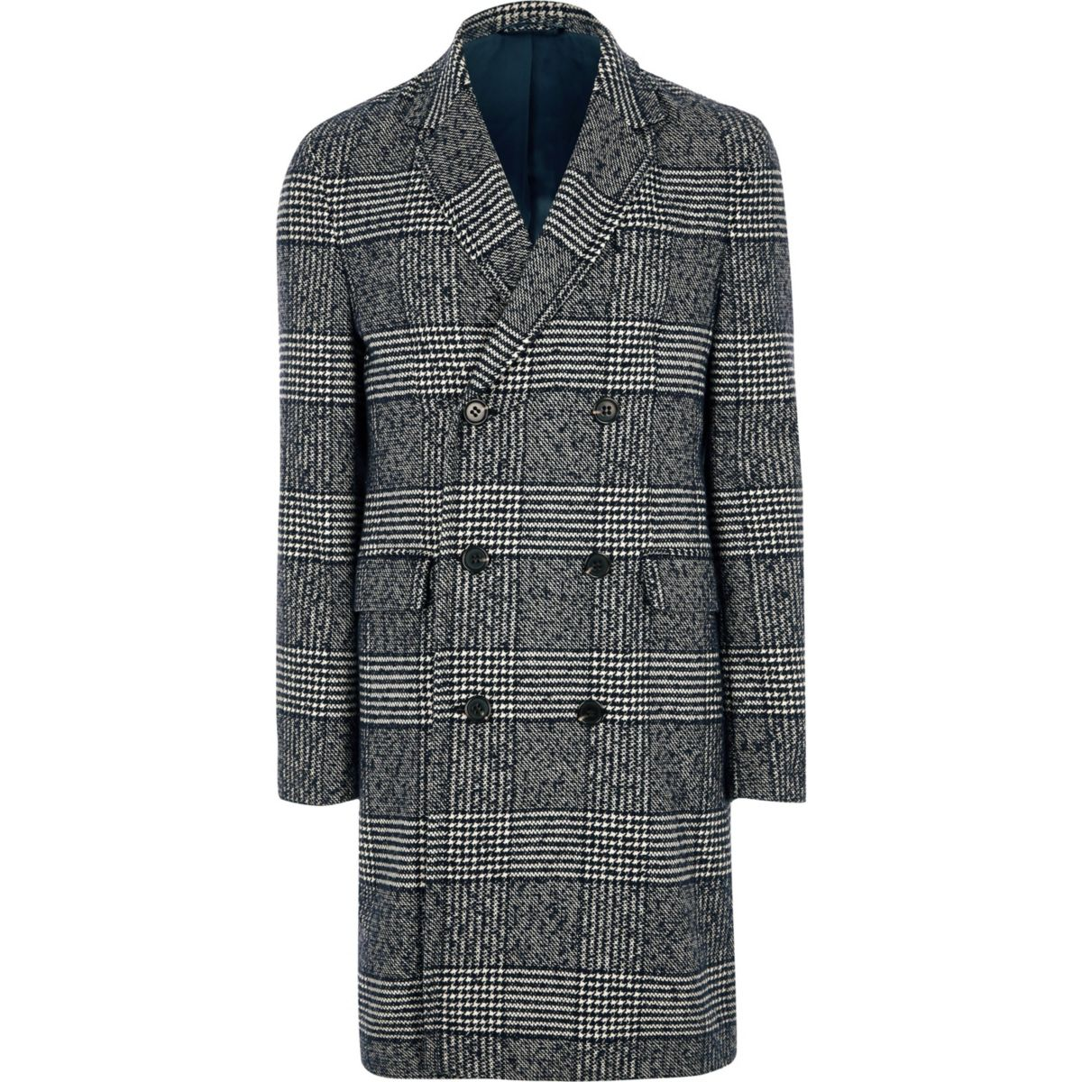 Grey check double breasted smart coat