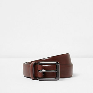 Tan smart faux leather belt