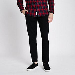 Pantalon chino noir coupe slim