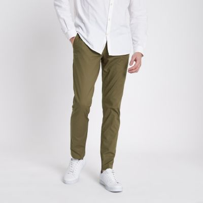 River Island Pantalon chino slim kaki