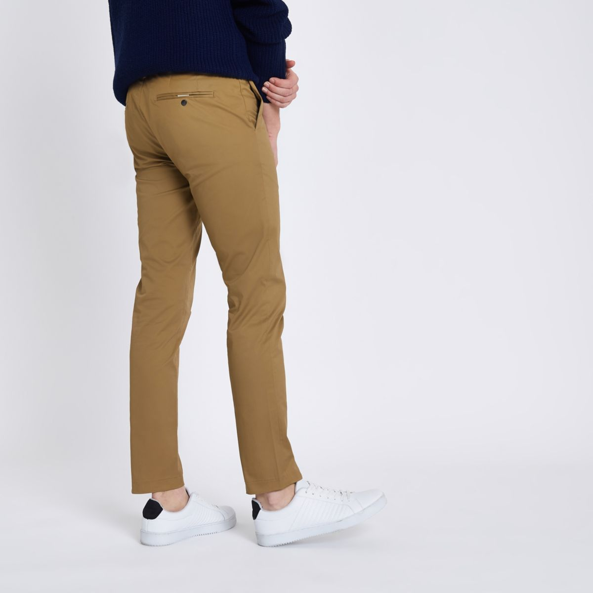 Tan Skinny Chino Trousers by River Island