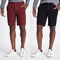 Lot de shorts chino slim
