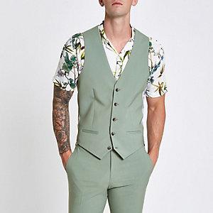 Gilet de costume vert menthe