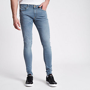 Ollie – Blaue Superskinny Spray On Jeans