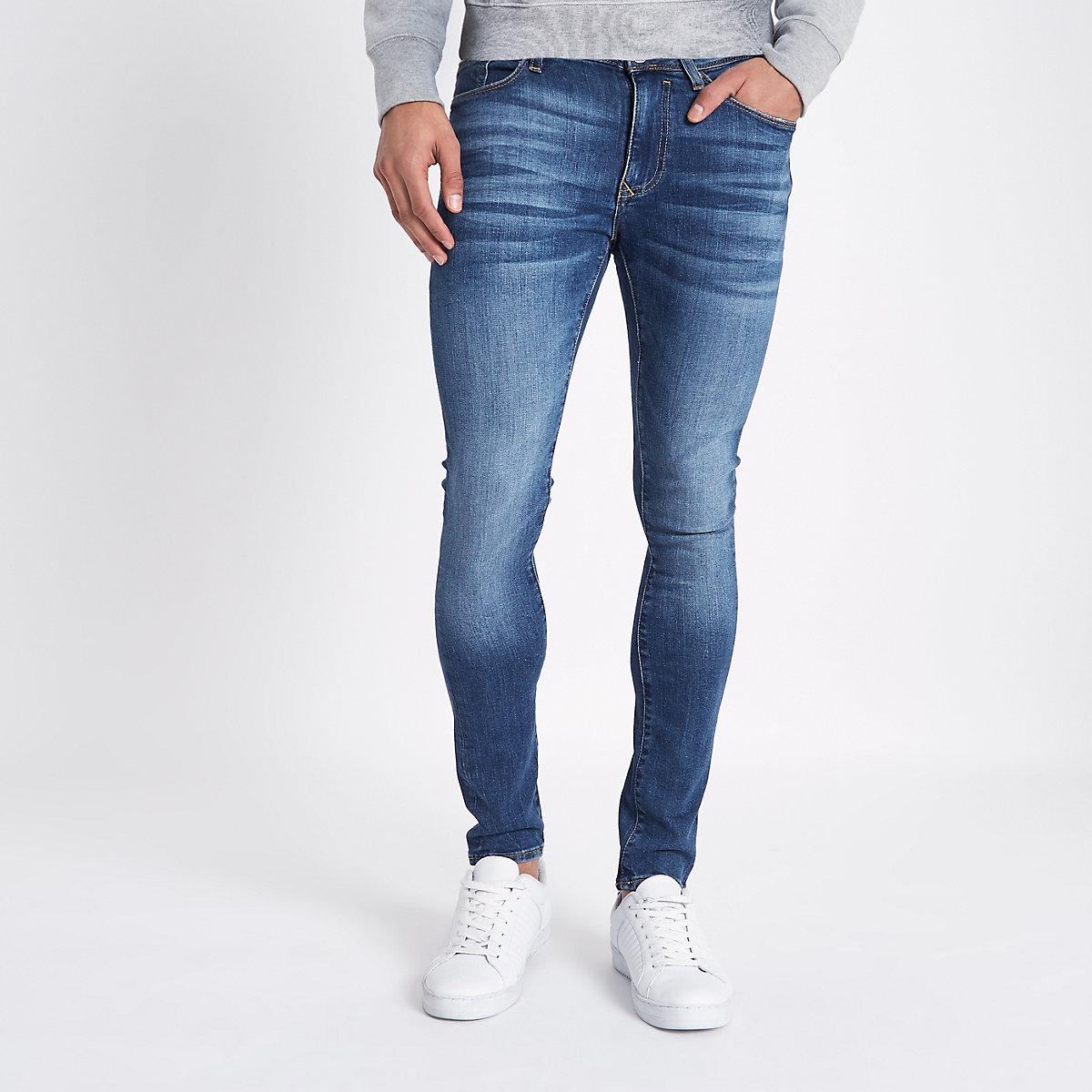 Mid blue Danny super skinny jeans