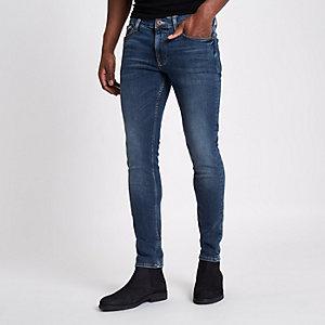 Sid skinny jeans met donkerblauwe wassing