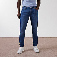 Mid blue Dylan slim fit jeans