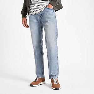 Bobby - Lichtblauwe standaard jeans