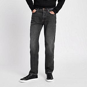 Bobby - Zwarte washed standaard jeans