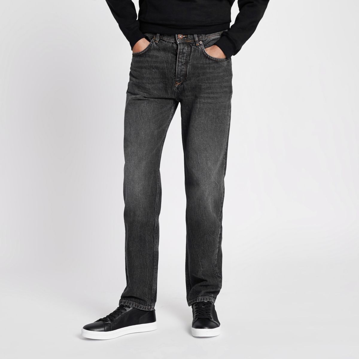 Black washed Bobby standard jeans