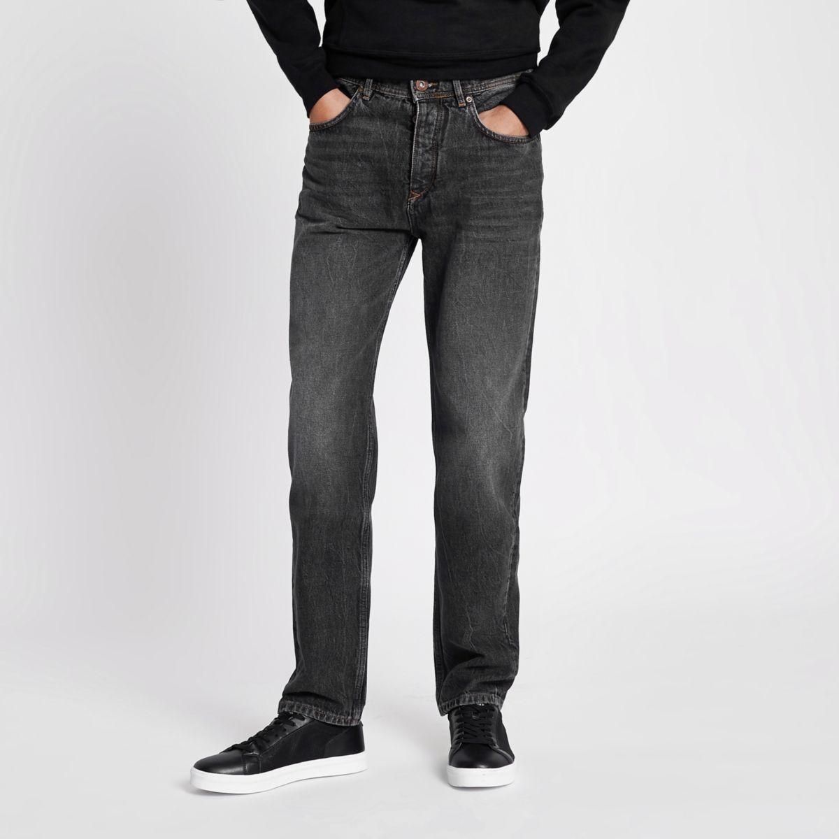 Bobby – Schwarze, vorgewaschene Standard-Jeans