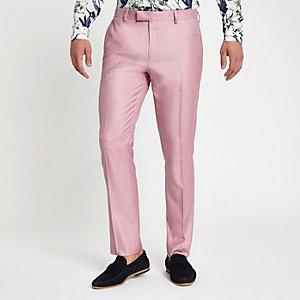 Roze skinny-fit pantalon