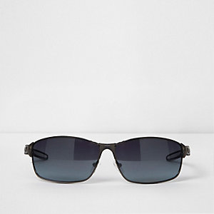 Stahlgraue Sonnenbrille