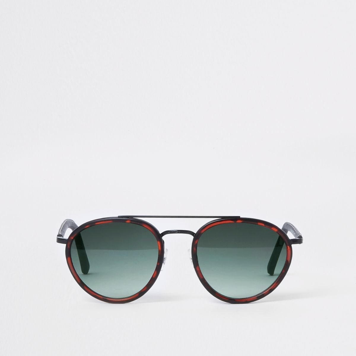 Brown tortoiseshell aviator sunglasses
