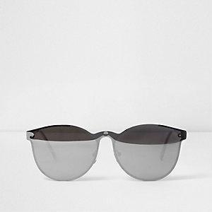 Lunettes de soleil effet miroir grises