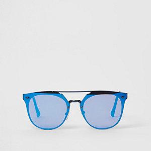 Lunettes de soleil aviateur à verres bleus
