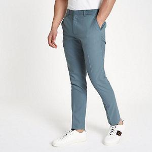 Blue skinny smart trousers