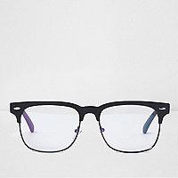 Lunettes noires style rétro à verres transparents