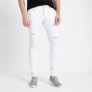 Danny – Weiße Skinny Jeans im Used Look