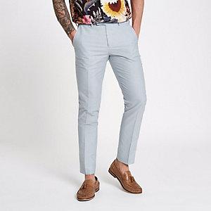 Lichtblauwe nette skinny-fit broek