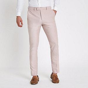 Pantalon habillé skinny rose