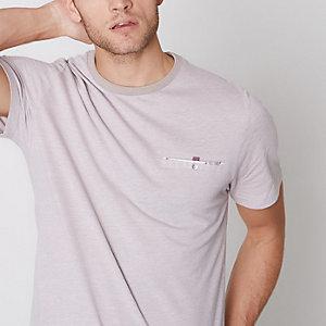 Slim Fit Piqué-T-Shirt mit Tasche
