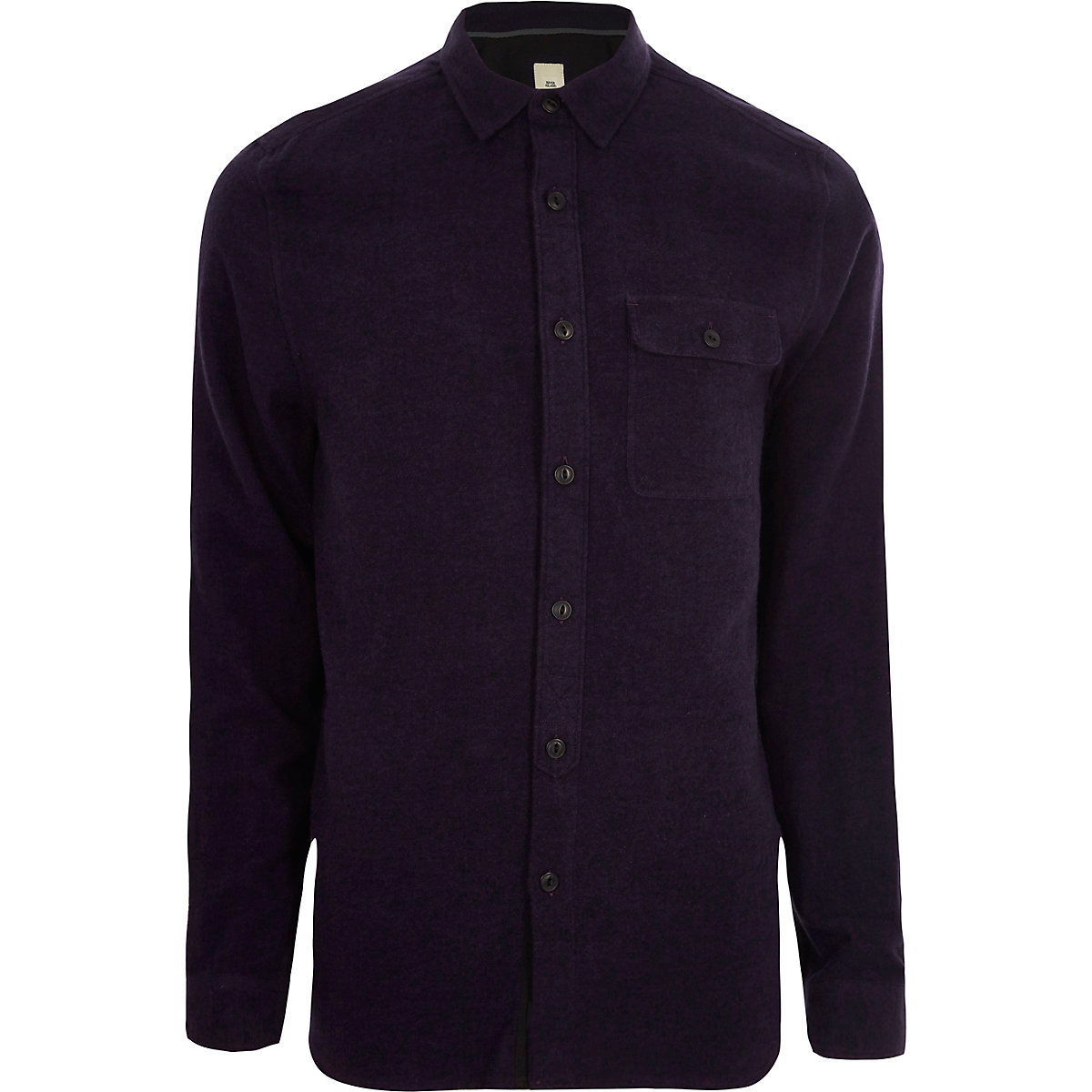 Purple grindle long sleeve casual shirt