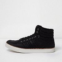 Baskets mi-hautes noires à lacets