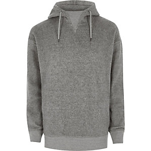 Grauer Fleece-Hoodie