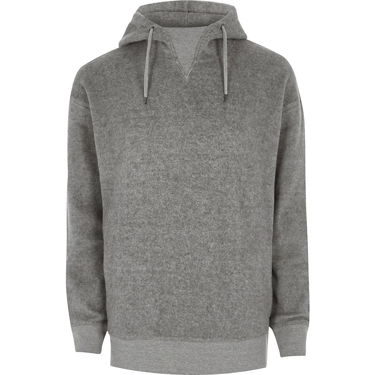 Grey fleece hoodie