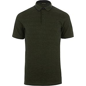 Only & Sons – Grünes Polohemd mit Zierstreifen