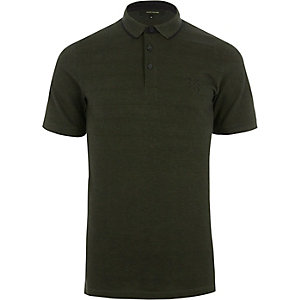 Green Only & Sons tipped polo shirt