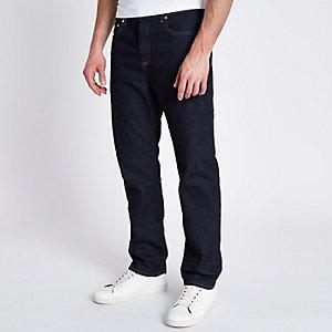 Bobby - Donkerblauwe standaard jeans
