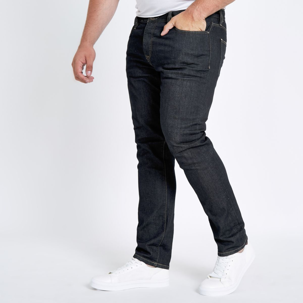 Big and Tall dark blue Seth slim fit jeans
