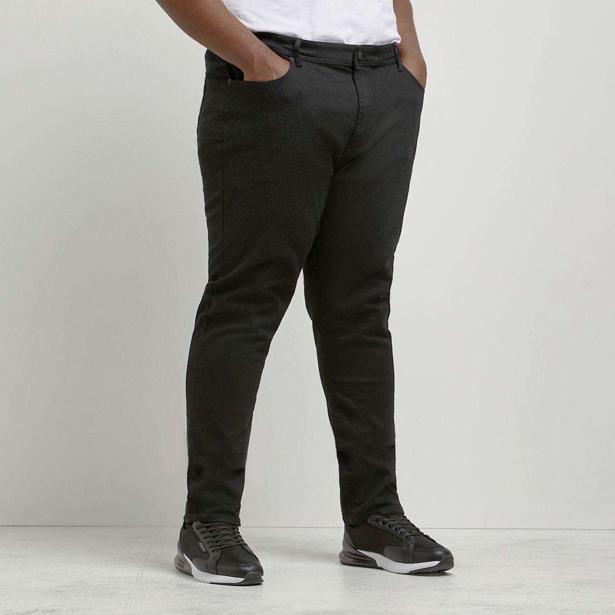 RI Big and Tall - Sid - Zwarte skinny jeans