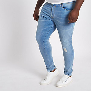 Big & Tall – Danny – Jean super skinny bleu