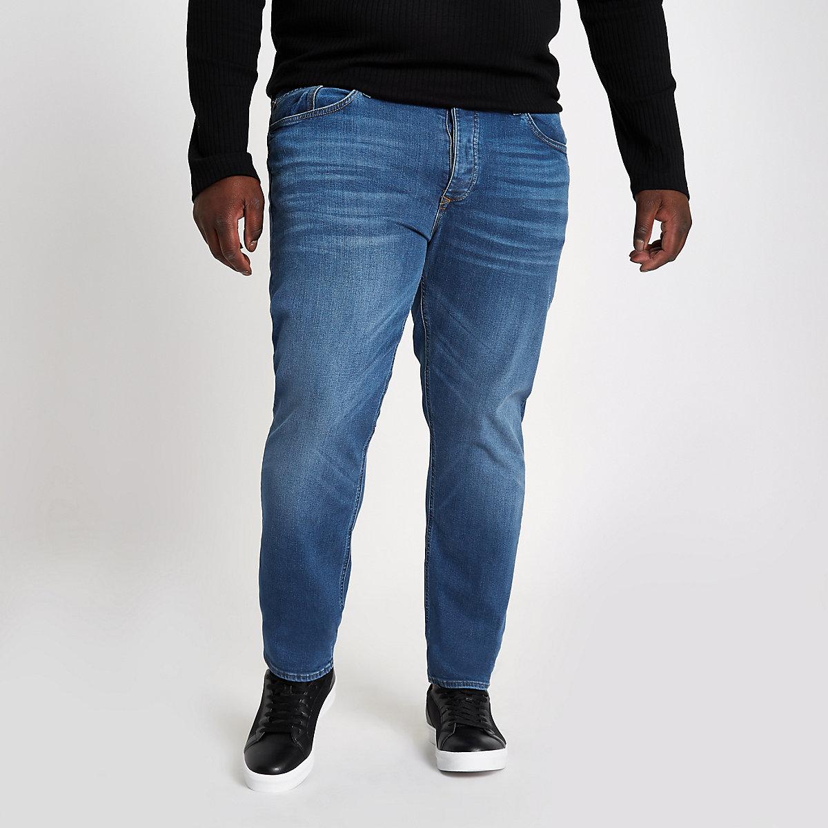 Dylan – Blaue Slim Fit Jeans im Used-Look