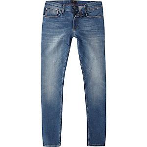 Sid – Jean skinny délavage bleu moyen