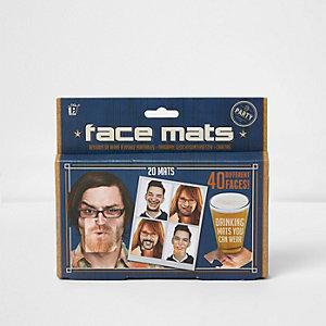 Face drinking mats